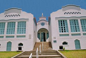 """Antigo """"Grupo Escolar Castro Alves"""", constru�do pelo interventor federal Juracy Magalh�es em 1934. Hoje abriga o Museu Regional de Jequi�."""