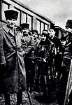 Mustafa Kemal, Halide Edib at Gebze station.jpg
