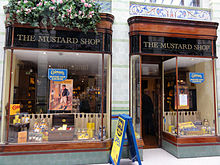 Colman's Mustard Shop & Museum in the Royal Arcade, Norwich UK.