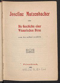 Josephine Mutzenbacher cover
