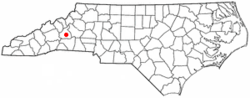 Location of Marion, North Carolina