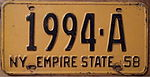 NEW YORK 1958 LICENSE PLATE - Flickr - woody1778a.jpg