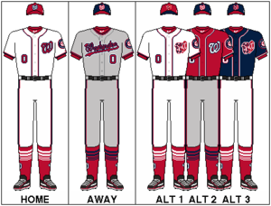 Washington Nationals - Image: NLE Uniform WAS