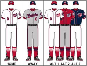 Washington Nationals - Image: NLE Uniform WAS