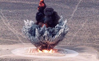 Explosion - Detonation of 16 tons of explosives.