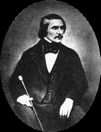 Nikolai Gogol - Daguerreotype of Gogol taken in 1845 by Sergey Lvovich Levitsky (1819–1898)