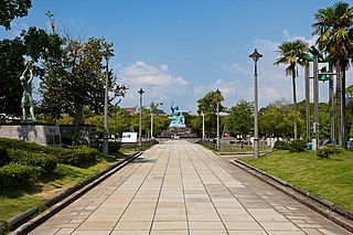 Nagasaki Peace Park memorial park in Nagasaki, Japan