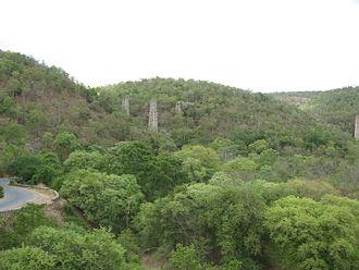 Guntur railway division - The remains of the old Dorabavi Viaduct, Bogada Guntur Division