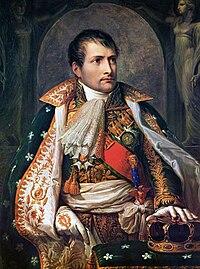 Retrato de Napoleón como rey de Italia.