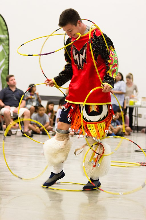 Male dancer from the Stó:l? First Nation at a 2015 National Indigenous Peoples Day celebration at the University of the Fraser Valley.