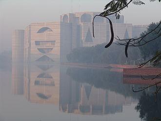 Louis Kahn - Jatiyo Sangshad Bhaban, Dhaka; considered as Kahn's magnum opus