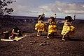 Native Hawaiians performing a dance with a musician playing a Ipu Heke at Hawai'i Volcanoes National Park. (75fded1195fc4b79907f5cbea4b470b7).jpg