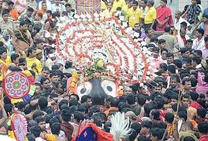 Ratha Yatra (Puri) - Pahandi of Lord Jagannath during Rathajatra 2017.