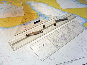 Course (navigation) - Instruments used to plot a course on a nautical or aeronautical chart.