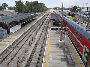 Netanya railway station - Image: Netanya Railway Station april 2015