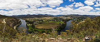 New Norfolk, Tasmania - New Norfolk from Pulpit Rock Lockout