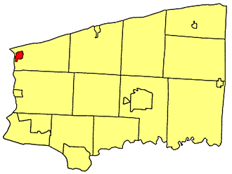 Youngstown, New York - Location within Niagara County.
