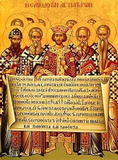 Nicene Creed Statement of belief adopted at the First Ecumenical Council in 325