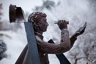 Gustavus Adolphus College - Nicollet is a sculpture by Paul Granlund at Gustavus Adolphus College