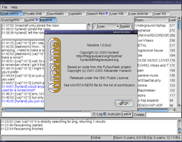 Screenshot van Nicotine 1.0.0 rc2