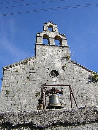 Njeguši - A church in Njeguši