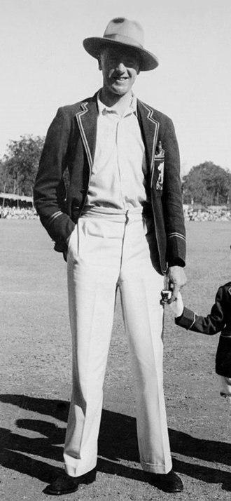 Nobby Clark (cricketer) - Clark in India in 1934