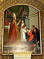 Noisy-sur-Oise (95), église Saint-Germain, chœur, tableau de retable - saint Nicolas.jpg