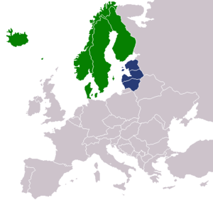 Baltoscandia - Image: Nordic countries and Baltic states