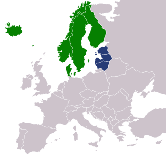 Baltoscandia - Image: Nordic countries and Baltic states