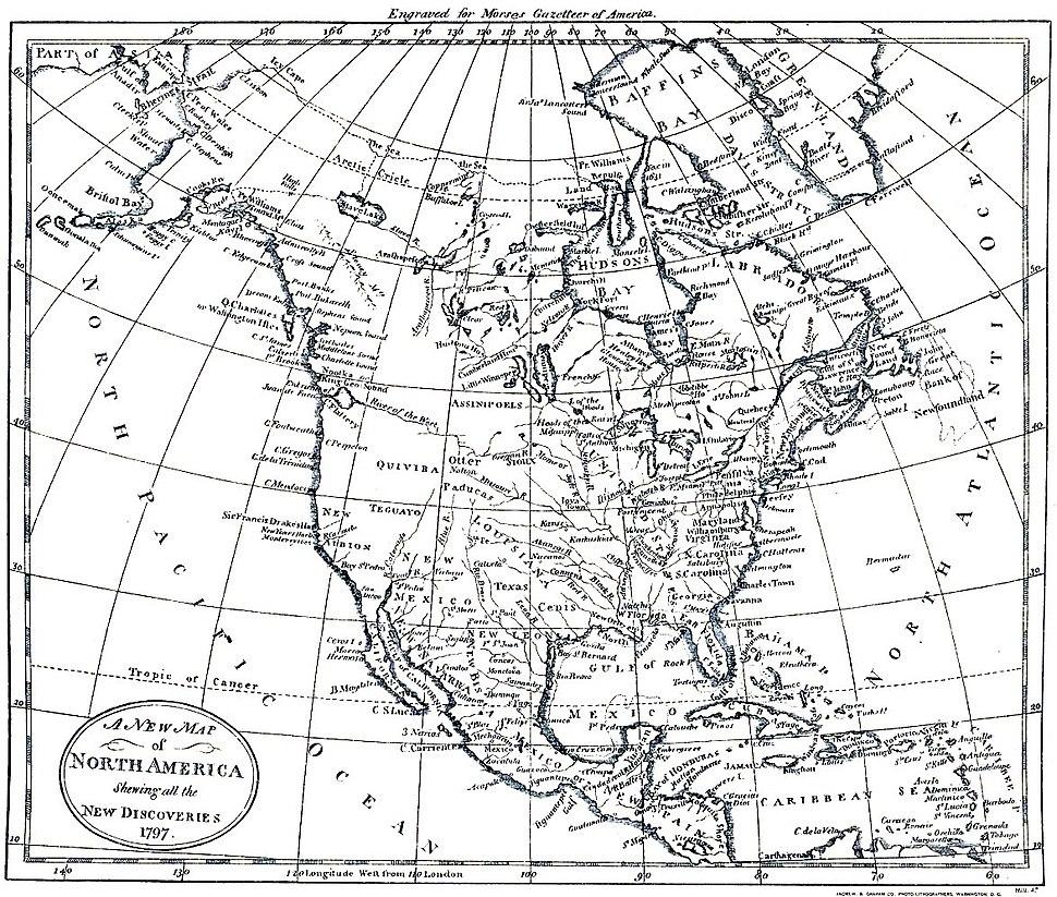 North America 1797 - U.S. Bureau of the Census, 1909