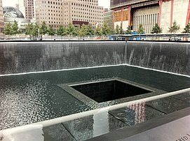 North Tower Fountain National September 11 Memorial & Museum (Sept. 17, 2011)