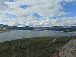 North across Jordanelle Reservoir from Jordanelle State Park Overlook, Apr 16.jpg