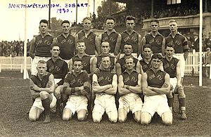 North West Football Union - The NWFU intrastate representative team in Hobart, 1930