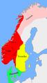 Carte: le royaume à la mort d'Olaf II le Saint