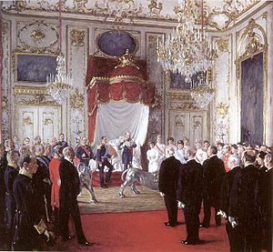 1905 in Denmark - The Norwegian delegation at Amalienborg on 20 November 1905
