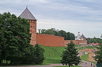 Novgorod Kremlin - The eastern wall of the Novgorod Kremlin