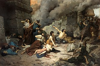 History of Spain - Numancia, a painting by Alejo Vera. The Numantians kill themselves rather than surrender to Rome.