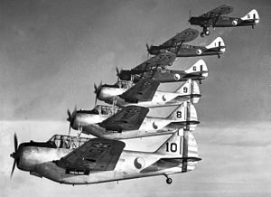 104th Fighter Squadron - Three Douglas O-46A and three North American O-47 aircraft assigned to the Maryland National Guard's 104th Observation Squadron conduct a training sortie on 1 March 1940. Less than a year later, the 104th was mobilized in anticipation of World War II.