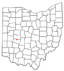 Location of Northridge, Clark County, Ohio