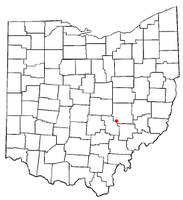 Location of Roseville, Ohio