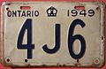 """ONTARIO 1949 -THREE CHARACTER LICENSE PLATE """"SHORTY"""" - Flickr - woody1778a.jpg"""
