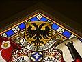 Oberhofen Schloss Oberhofen Innen Raum mit Glasmalereien 07.JPG