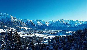 Oberstdorf - View of  Oberstdorf