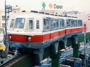 Monorail - Iron railway style Lockheed monorail (Odakyū Mukōgaoka-Yūen Monorail, Kawasaki, Japan, 1966–2001)