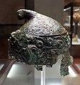 Officina greca o magnogreca, elmo in bronzo di tipo a berretto frigio, , 310-100 ac ca., da tomba dei tetina presso castiglion del lago.jpg