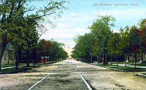 Ohio Boulevard–Deming Park Historic District - Ohio Boulevard circa 1910