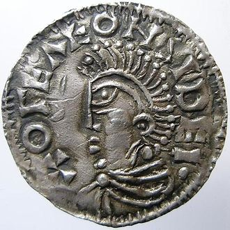 Culture of Sweden - Silver coin minted at Sigtuna for a Swedish king around the year 1000