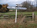 Old Road sign at Thornbrough Road End - geograph.org.uk - 1588520.jpg