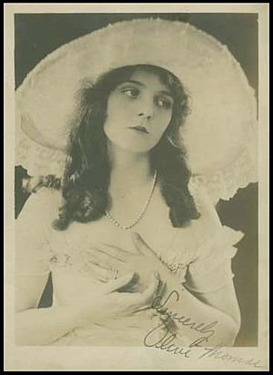 Olive Thomas - Autographed photo of Olive Thomas, circa 1916