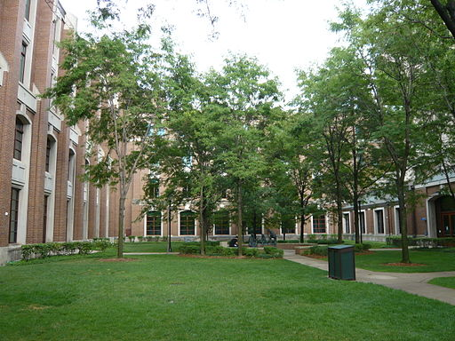 On the Lincoln Park Campus of DePaul University in Chicago